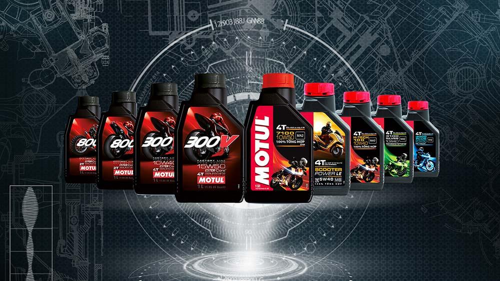 Sản phẩm dầu nhớt chính hãng Motul